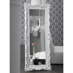 Brocade Home's floor length mirror is similar to the vintage gold version we found to use in the MASTER BEDROOM