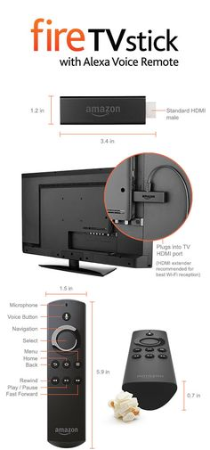 Amazon Fire TV Stick with Alexa Voice Remote - Streaming Media Stick