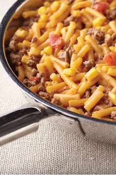 Tex Mex Beefy Mac & Cheese – Ground beef, chunky salsa, and corn give this mac and cheese dish a flavorful appeal that your family is sure to enjoy on the dinner table.