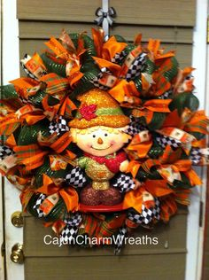 Fall Elf Ribbon wreath