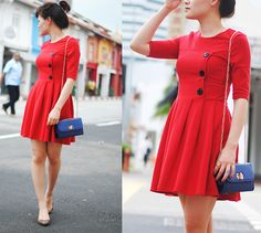 red dress <3 More Christmas party outfit ideas: http://famecherry.com/fashionista-now/fashionista-now-christmas-party-outfit-ideas/