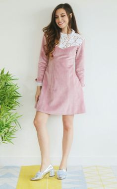 Marzia's New Clothing Line Winter 2016  #Marzia #Bisognin #Cutiepie #fashion #pastel #clothes #cute #winter #classy #beautiful #photography #YouTubers #velvet #pink #white #lace #brunette #dress