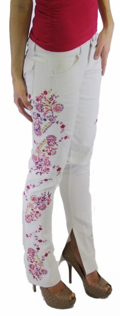 embroidered jeans for summer