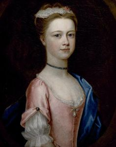 Lady Charlotte Boyle, Marchioness of Hartington (1731-54)  c. 1740 Attributed to Dorothy Savile, Countess of Burlington