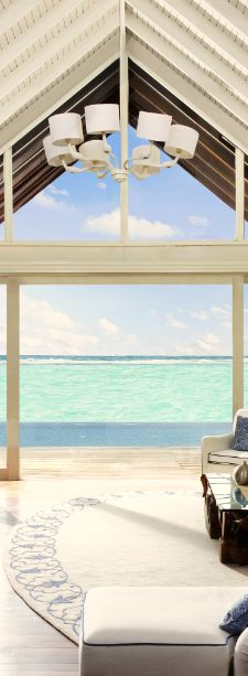 Kick back & relax (with the perfect view) from your room at the Taj Exotica Resort and Spa in Male, #Maldives.
