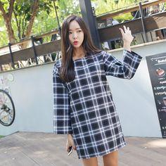 Plaid Check Mini Dress