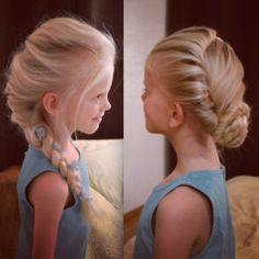 Elsa's 2 hairdos from Disney's Frozen