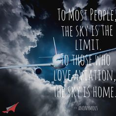 To most people, the sky is the limit. To those who love aviation, the sky is home. #aviationpilot