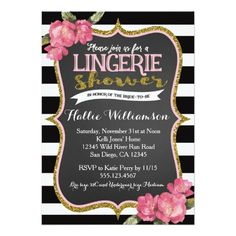 Lingerie Bridal Shower Invitation