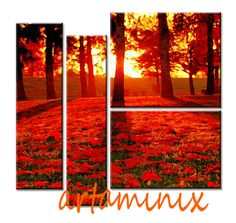 Autumn sundown #handmade #red #art