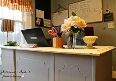 My shabby chic homeschool classroom and a DIY tutorial for a shabby chic desk.