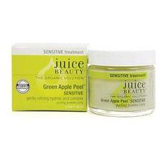 Juice Beauty Apple Peel Sensitive Skin : A peel with fruit acids or lactic acid will brighten skin