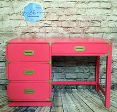 Coral Crush Campaign Dresser | General Finishes Design Center