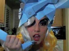 LADY GAGA TELEPHONE FULL COSTUME, HAT, MAKE-UP TUTORIAL by Leilani Joy - YouTube