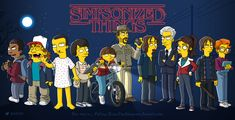 Les héros de Stranger Things version Simpson