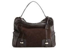 BCBG Max Azria Suede and Leather Hobo All Handbags Handbags - DSW