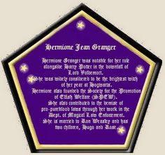 hermione's chocolate frog card