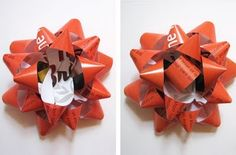 bow made from a magazine page