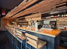 The County General. Great food, delicious drinks, with a side of rockin' music and superior hospitality. 936 Queen St W Toronto, ON Rustic Restaurant, Restaurant Design, Restaurant Bar, Restaurant Interiors, Tap Room, Weekends Away, Yummy Drinks, Great Recipes, Toronto