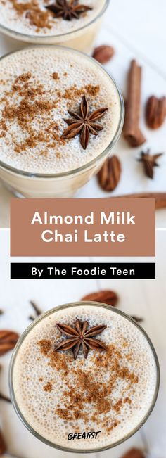 3. Almond Milk Chai Latte #warm #drinks #recipes http://greatist.com/eat/warm-drink-recipes-better-than-a-pumpkin-spice-latte