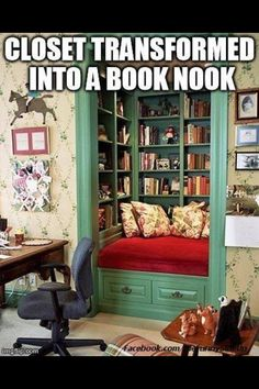 My future book nook, when I don't need every ounce of closet space