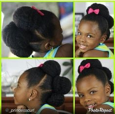 Little girls natural hair style