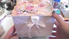 Here is the altered box I made for Natalie. Go check out Natalie's channel! She is a super sweet person and wonderful crafter!! https://www.youtube.com/user/... Stunning!!!