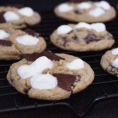 Grown Up S'mores Cookies: These chewy cookies have all the components of a classic s'more with a grown-up kick.