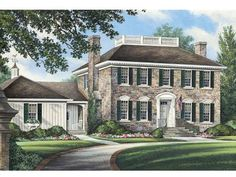 Page 2 of 3 for Greek Revival House Plans Colonial House Plans, Duplex House Plans, Colonial Style Homes, Family House Plans, Best House Plans, House Floor Plans, Colonial Exterior, Modern Exterior, Exterior Colors