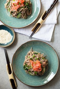 Soba noodle salad recipes are great thing to consider for those looking to take your lunch to work. Easy filling recipe for lunch or dinner. You'll need soba noodles, smoked salmon, spinach, miso, ginger, cucumbers and just a few more pantry staples for this simple recipe.