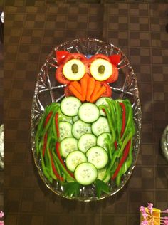 Owl Vegetable Tray