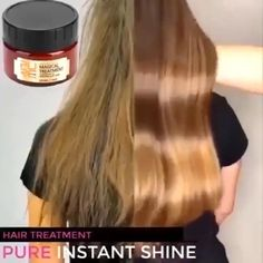 Hair Streaks, Blonde Hair With Highlights, Balayage Hair Blonde, Brown Balayage, Hair Treatment Mask, Curly Hair Styles, Medium Hair Styles, Hair Medium, Keratin Hair