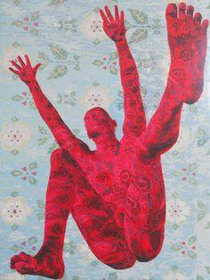 "Edo Pillu (1969) ""At the blue garden"" Acrylic on canvas 112 x 147 cm 2013"