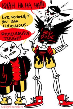"""underfell Papyrus with his own """"Cool Dude"""" outfit by sl4ughtermelon"""