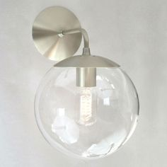 Mid Century Modern Wall Sconce 8 Clear Glass by SanctumLighting