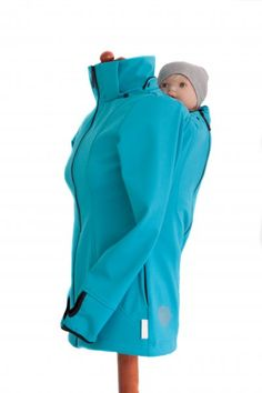 Softshell jacket is designed for parents who carry their children in a sling or an ergonomic carrier. Long Beach, Kaftan, Babe, Black Pink, Pregnancy Months, Bikini, Softshell, Social Platform, Maternity