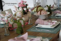Mesa decorada para páscoa por Patricia Junqueira {Home, Receber & Baby} para ser uma boa anfitriã Decoração páscoa