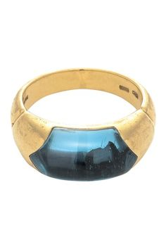 Vintage Bvlgari 18K Yellow Gold Tronchetto Ring - Size 6 by LXR on @HauteLook