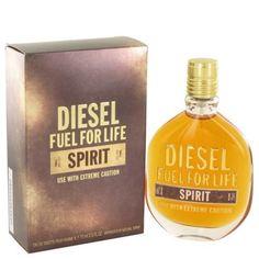 DIESEL FUEL FOR LIFE SPIRIT FOR MEN EDT SPRAY 2.5 OZ/75 ML, BRAND NEW IN BOX #Diesel