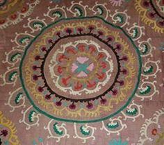 Here's a Uzbek Suzani Pattern to Stitch Using a Traditional Motif