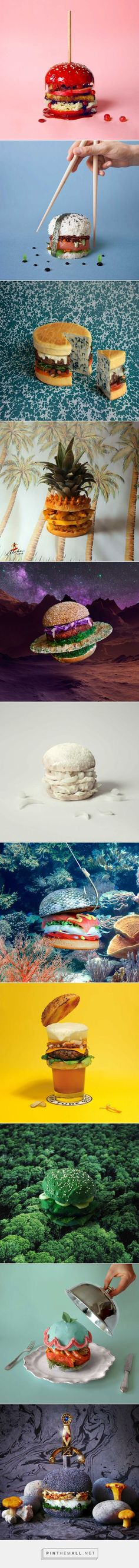 Miss Moss · Fat & Furious Burger is a project by french graphic designers Thomas & Quentin, of Studio Furious, who started putting together elaborate burger ideas during their lunch breaks.(Need To Try Design Studios) Still Life Photography, Food Photography, Food Design, Design Art, Anuncio Perfume, Photo Food, Miss Moss, E Mc2, Creative Food
