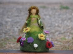 Summer is on its way Needle felted doll Waldorf by Made4uByMagic