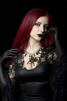 Gothic black glove spider