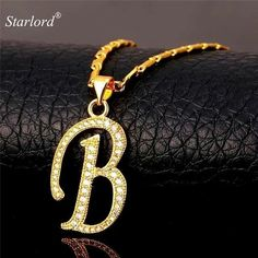 Initial B Letter Pendants & Necklaces WomenMen Personalized Gift Alphabet Jewelry Gold Color Necklace Letter Pendant Necklace, Letter Pendants, Alphabet Images, Alphabet Design, Stylish Alphabets, Wallpaper Iphone Love, India Jewelry, Jewellery, Girly Drawings