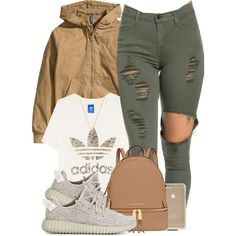 Untitled #531 by b-elkstone on Polyvore featuring adidas Originals, H&M, MICHAEL Michael Kors and Gucci