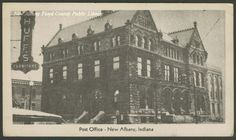 Postcard of the New Albany Post Office, New Albany, Ind., ca. 1946