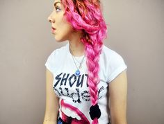 Dyed curly hair