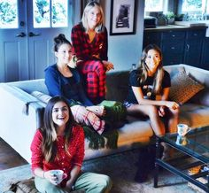 Lucy Hale (Aria), Troian Bellisario (Spencer), Ashley Benson (Hanna) and Shay Mitchell (Emily) on the set of Pretty Little Liars. #PLL