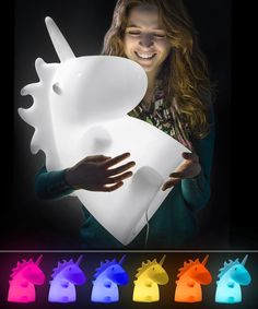 """""""The magic has been restored to our warehouse. The Giant Unicorn Lamp is back in stock! @Vat19"""
