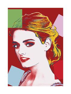 Portrait dans un style Warhol authentique, basé sur son portrait de la Reine Elisabeth II d'Angleterre.  Un portrait dans ce style, à partir d'une de vos photos : € 52.89 sur une toile 20 x 20 cm, livraison comprise.